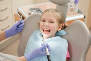 Young Girl in Dentist Chair