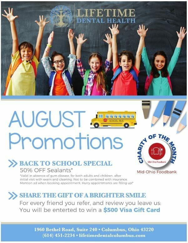 Lifetime Dental Health August Promotions